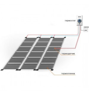 Инфракрасный пленочный теплый пол Q-Term 220Вт (Ширина 50 см)
